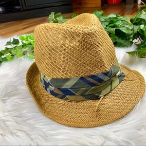 50aca83846d49 Universal Thread Accessories - Plaid Band Straw Fedora Hat Women s Fully  Lined